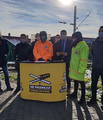 """Почетак кампање за путно  пружне прелазе у Панчеву """"Не ризикуј - губиш сигурно"""""""
