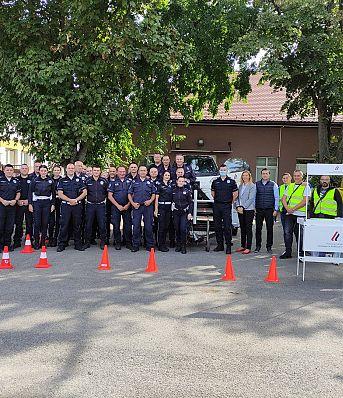Обука припадника Саобраћајне полиције ПУ Сомбор, Суботица и Кикинда о значају коришћења безбедносног седишта и сигурносног појаса